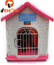 pet outdoor Dog Cat Plastic cage house PP pet villa assemble with wheel