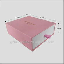Pink Sliding Cardboard Gift Box With Drawer