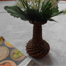 eco-friendly hot sale handmade cheap wicker vase for flower handicraft
