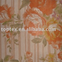 Poly Cotton Burnt Out Printed Fabric/TC fabric/shirt fabric,skirt fabric