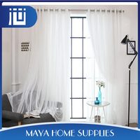 Newest fashionable white lace party wall curtains and draperys