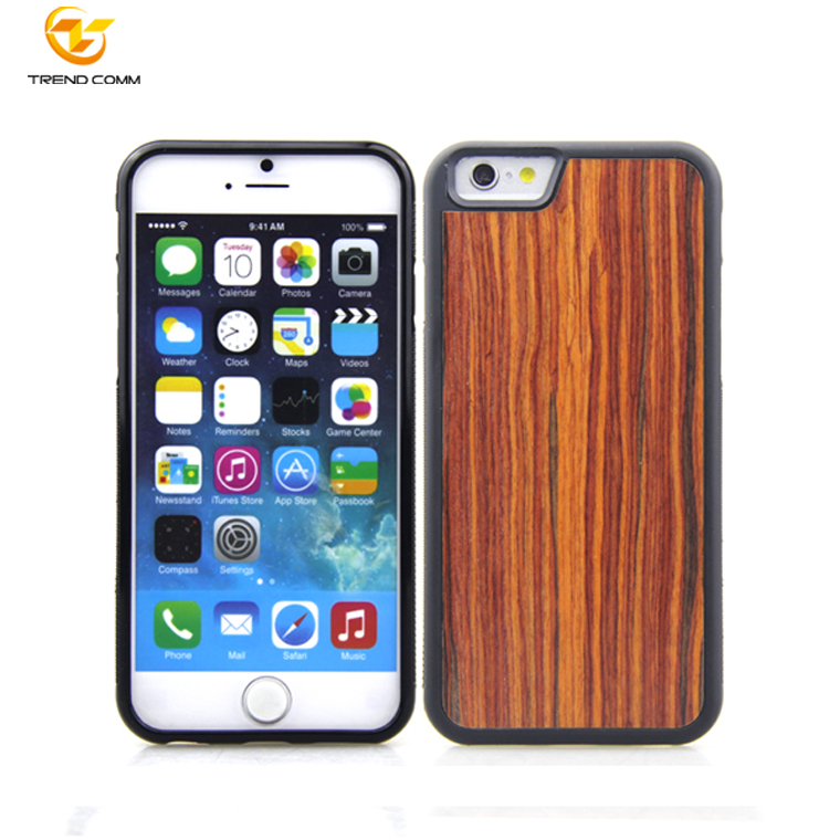 Real natural wood hard blank phone case cover for apple iphone 7/8