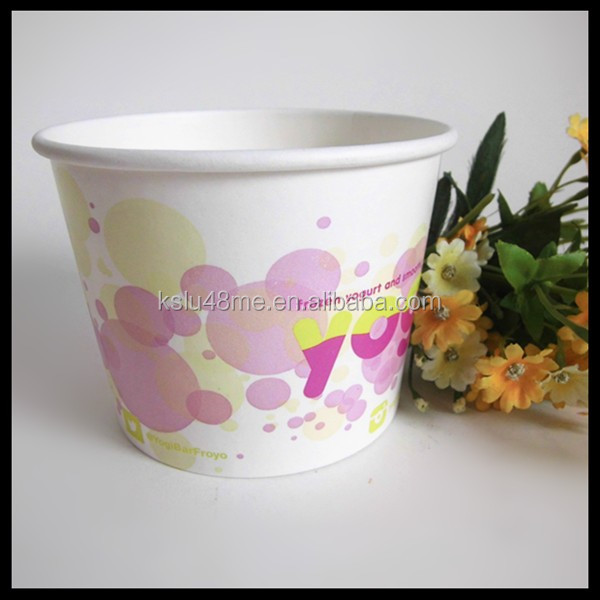 Ice Cream Container/Yogurt Cup With Dome Lid and Spoon(FDA,SGS,QS.etc)