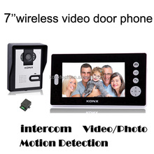 7 inch Multi apartments wireless video door phone with photo memory