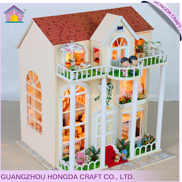 Supply to separtmental store miniature doll house model building kits wooden