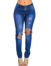 Sexy Butt Lift Levanta Cola Colombian Style Distressed destroyed Straight Leg Jeans