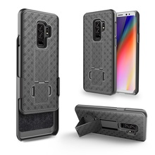Amazon hot sale rubberized combo belt clip case for samsung galaxy s9 holster case