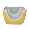 HS-B07 with shower freestanding yellow color acrylic bath baby tub