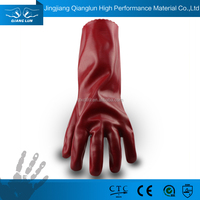 QL PVC coated protect hands cut and chemical resistant gloves