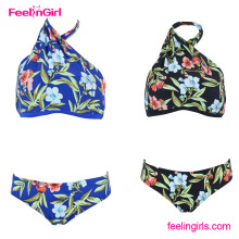 Wholesale Hot Sale Floral Pattern Brazilian Pictures Women Sexy G String Bikinis