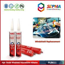 PU8611 No corrosion on base material adhesive primerless 6Mpa for metro side glass