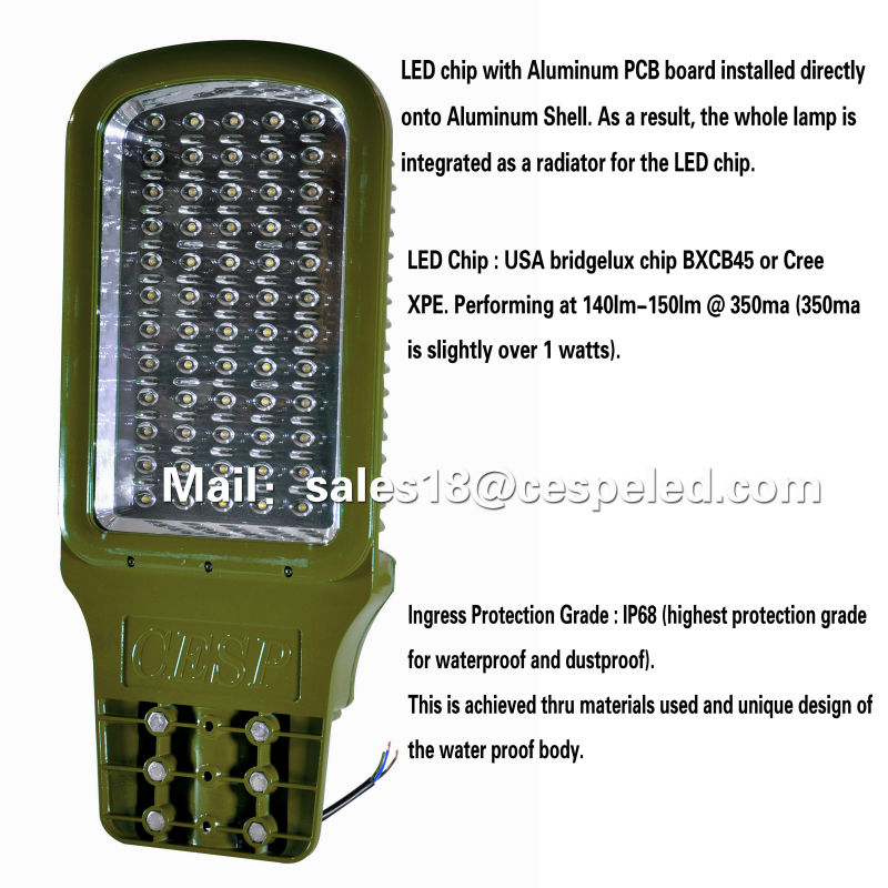 outdoor road light High Power Meanwell led driver led street lighting housing 90w 80w 60w outdoor road light