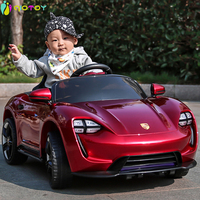 Bluetooth Electric Car for Kids Ride on Porsche Motor Car Battery 6V with Remote Control and LED