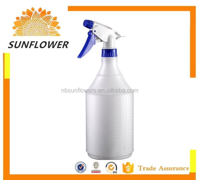 China HDPE 500ML/1L plastic plastic trigger spray bottle