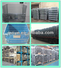 Different style storage mesh cage/metal cage for cargo transport/hollow plate galvanized wire container