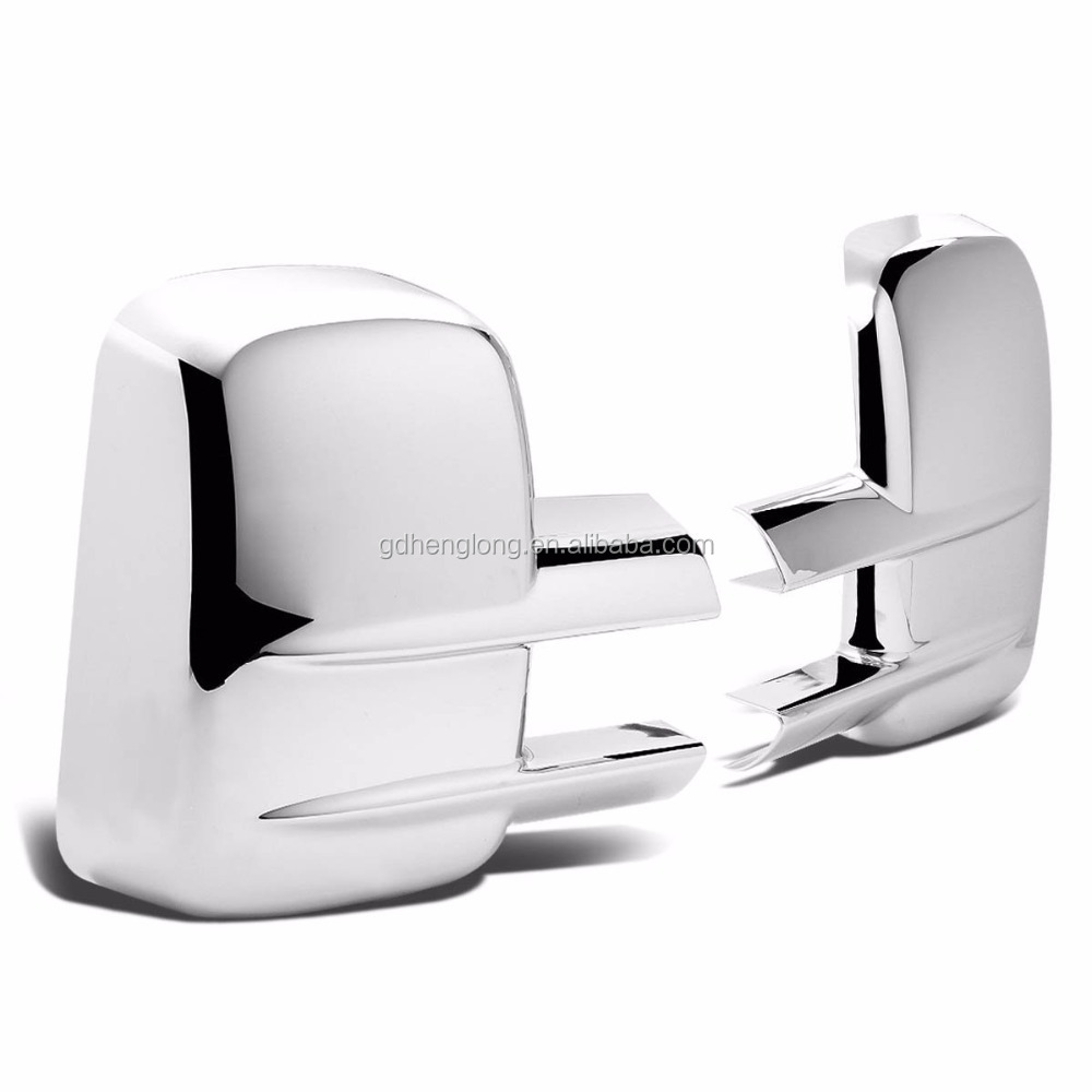 2007-2014 Chevy Silverado 2500/3500 HD Chrome Full Towing Mirror Cover