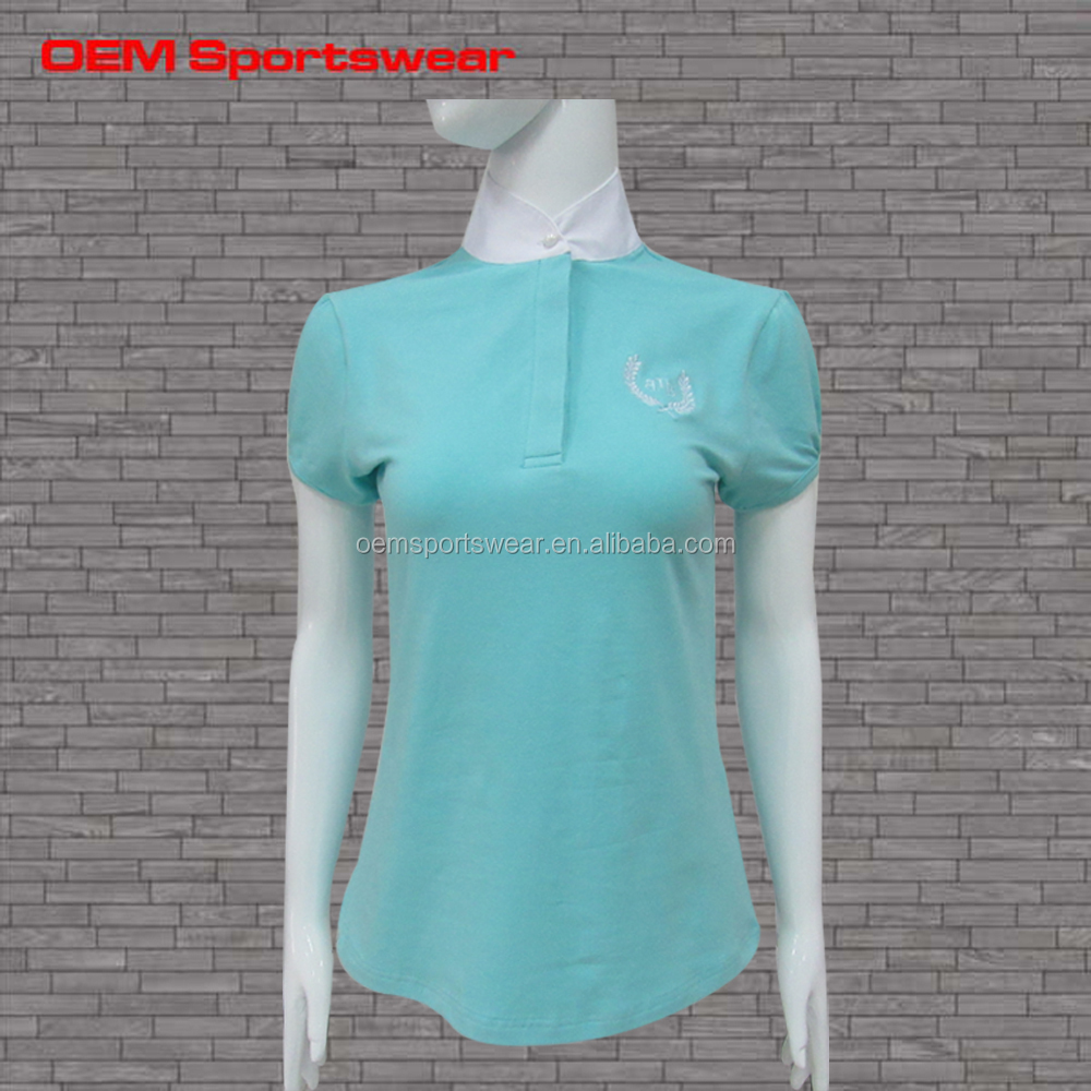 Dri fit wholesale horse riding embroidery polo shirts for for Women s dri fit polo shirts wholesale