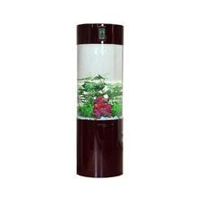 Wholesale custom large cylinder acrylic fish tank for office
