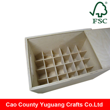 Beer Crate Manufacturer 24 Bottles Wooden Beer Crate Box With Sliding Lid
