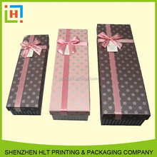 Chinese Factory-Direct Decorative Christmas Rectangle Watch Packaging Box with Lid