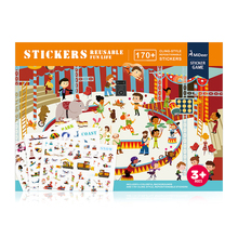 Mideer MD1014,MD1015,MD1016,MD1017 Sticker Game Toy Decorative Gift Disassembled Background Entertainment Scene Children Gift