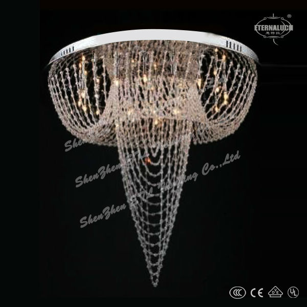 Modern rectangular crystal chandelier ETL82067