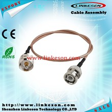 Coaxial cable RG316 with BNC female to UHF female connector