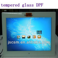 top manufacturer ! cheapest tempered glass digital photo frame 15 inch with HD mirror 4:3 photo video loop made in china