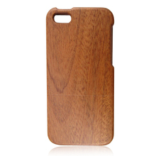 Fine craft sapele wooden hard back cover case for iphone5