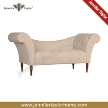 traditional indian furniture 2 seat sofa /lmodern linen fabric corner sofa
