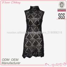 Ladies' fashion quilting sleeveless casual high quality direct manufacturer latest net dress designs
