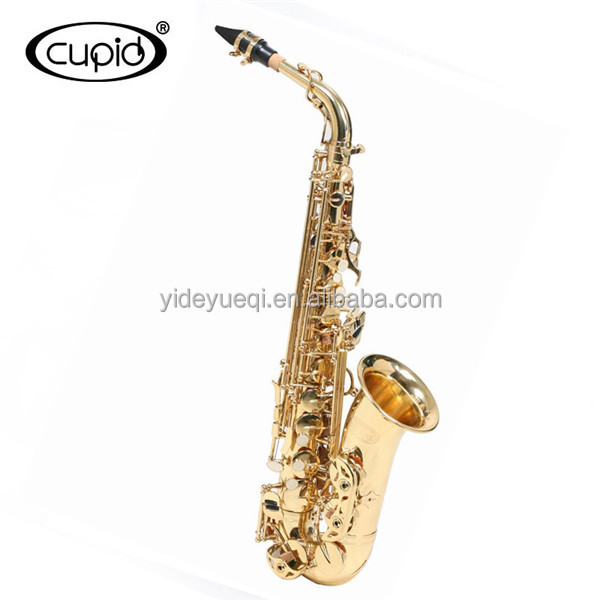 Stock product Chinese cheap Professional Gold Lacquer alto sax Alto saxophone with case