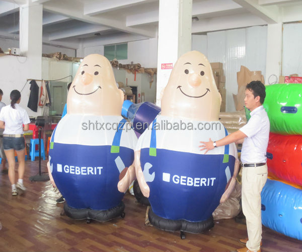 2014 factory supply inflatable mascot