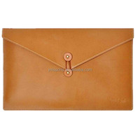 "Factory Customized 15.6"" inches Leather Envelope Bag Laptop case"