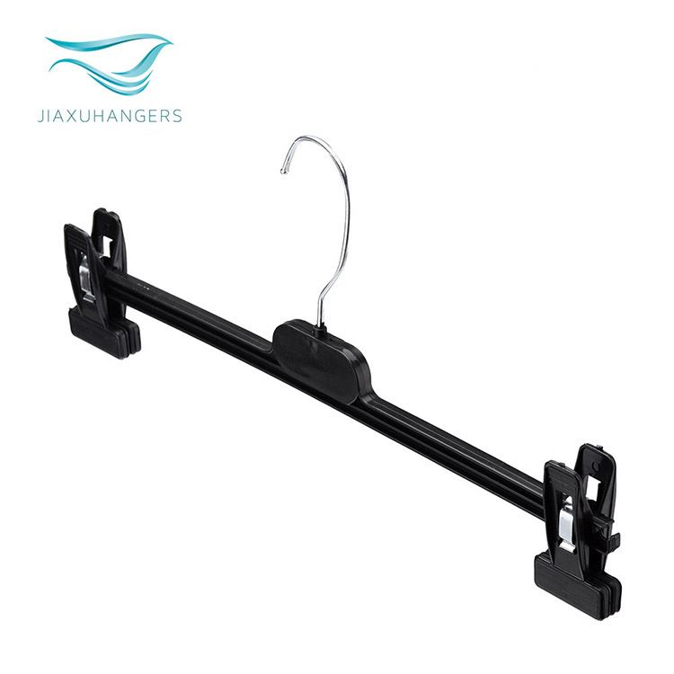 Modern style widely used black clip underwear hanger