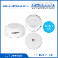 for ceiling light round shape 280ma constant current color change dimmable led driver