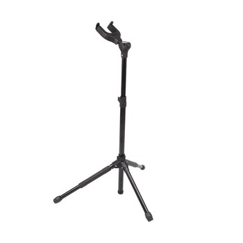Upright Adjustable Tripod Musical Instrument Stand Holder for Acoustic Classical Folk Electric Guitar with Lock Leg & Self-closi