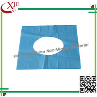 High quality safe self-adhesive hospital fabric toilet seat cover