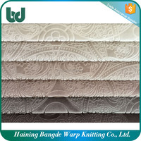 Polyester upholstery material textiles embossed bonded fabric