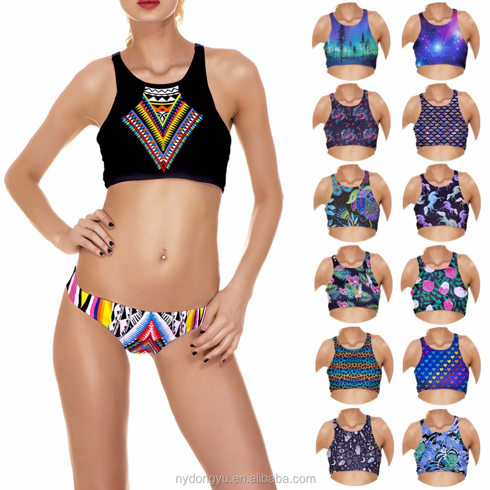 various design printed bikini/ morning xag plus size printed bikini swimwear