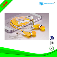 Flat Noodle Wired earphone for mobines