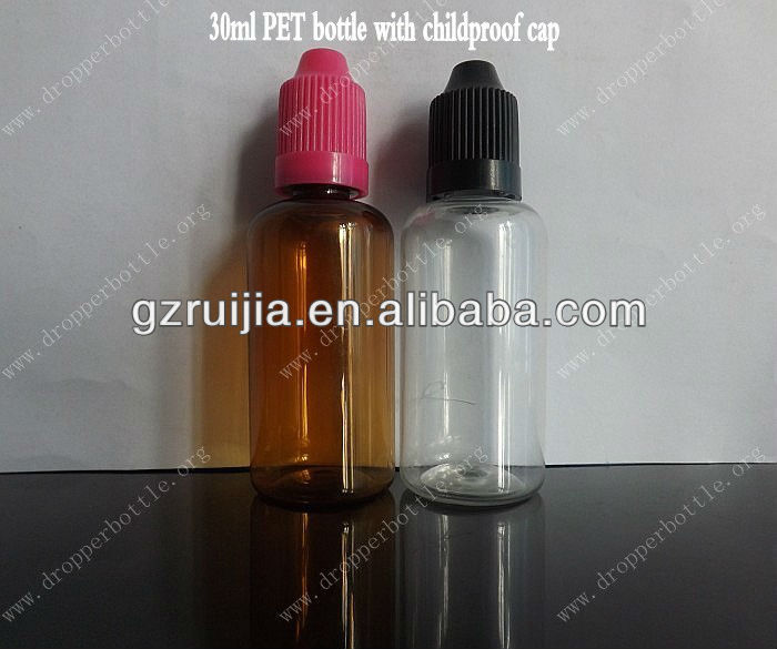 amber 30ml cheap bottles and jars pet vials childproof cap pet plastic bottle manufacturers