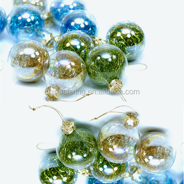 Wholesale clear glass christmas ball ornaments with