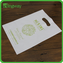 2016 customer design LDPE&HDPE soft loop handle bag flexiloop plastic handle bag for packaging