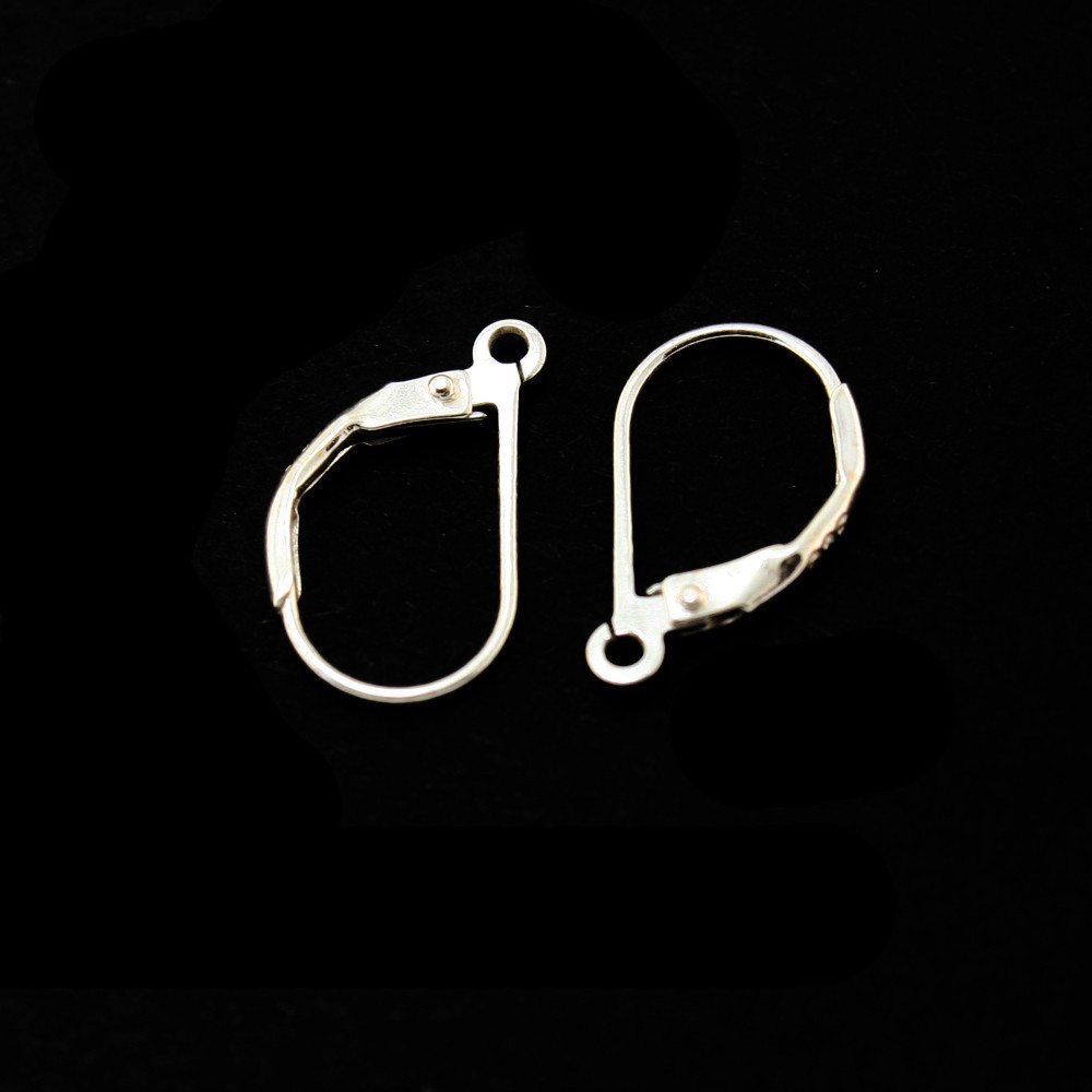Wholesale 20pair/lot 925 Sterling Silver Earring Hook 10*1 6mm DH-BFS011