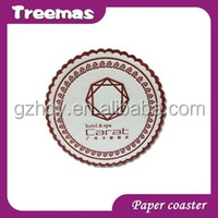 Fashion and highest quanlity absorbent paper coaster wholesales China manufacturer