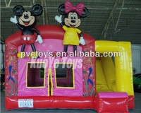 mickey mouse park inflatable combo bouncer