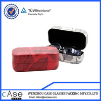 WENZHOU CASE Leaves red PU personalized sunglass case hard