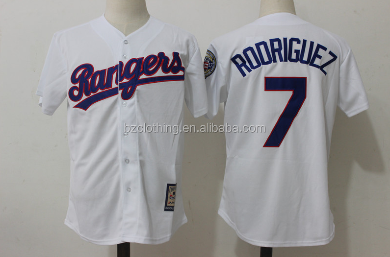 Men's Texas Rangers Ivan Rodriguez White Home Cool Base Jersey