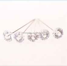 hot selling transparent diamond head pearl pin with high quality